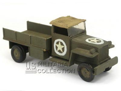 Jouet US Seconde Guerre, camion en bois