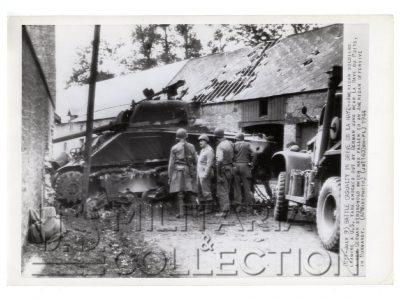 La Haye-du-Puits char Sherman juillet 1944