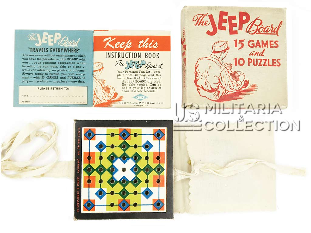 Boite de jeux US ARMY The Jeep Board Games