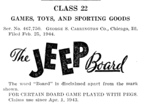 The Jeep Board Games