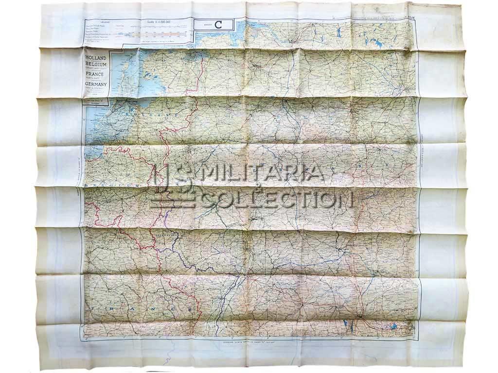 Carte d'évasion en soie 1943 C/E