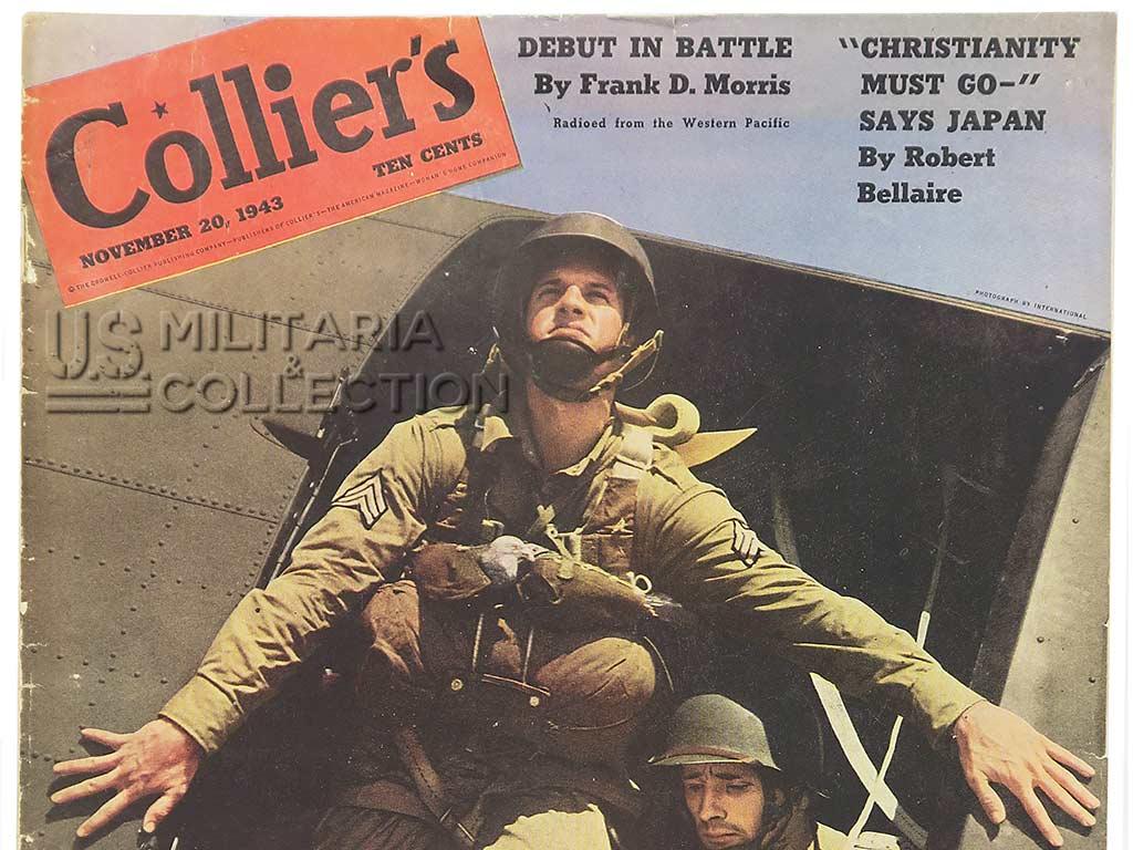 Magazine américain Collier's parachutistes 1943