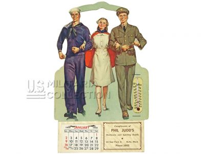 Calendrieraméricain daté 1944