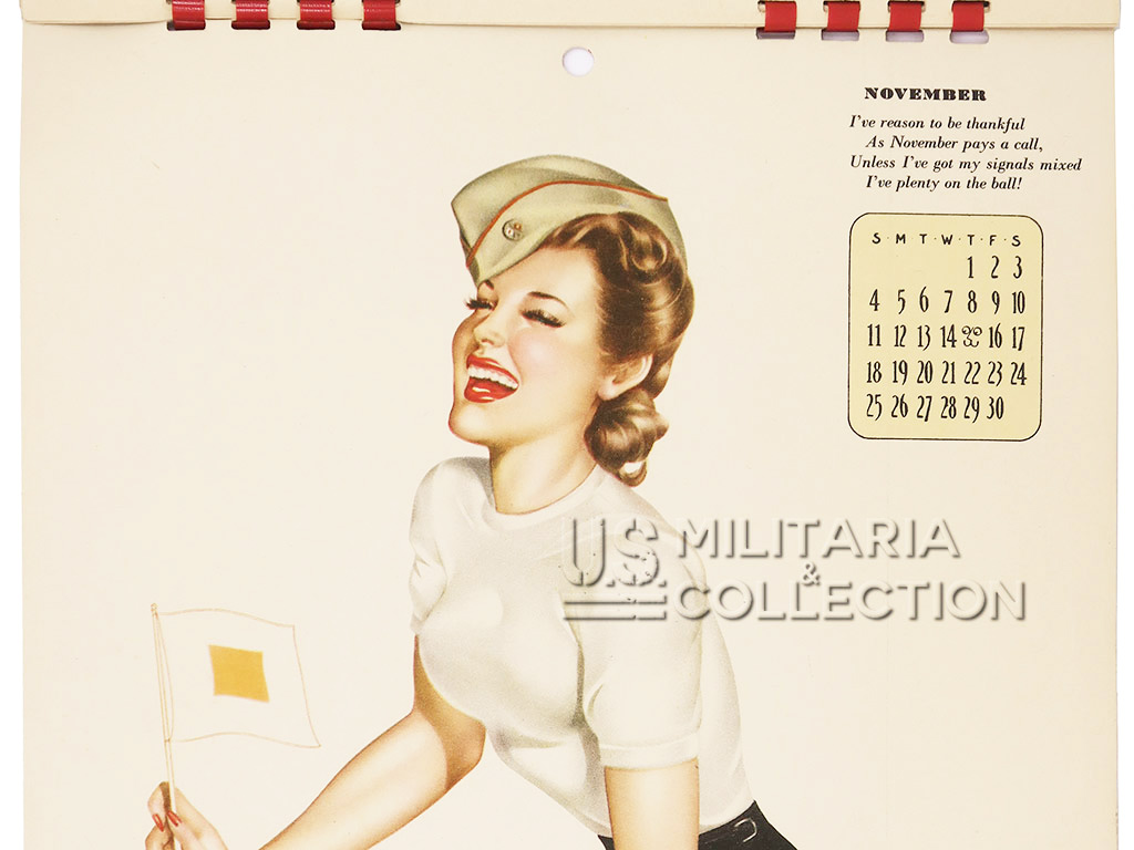 Calendrier US Pin Up 1945 de G.I.