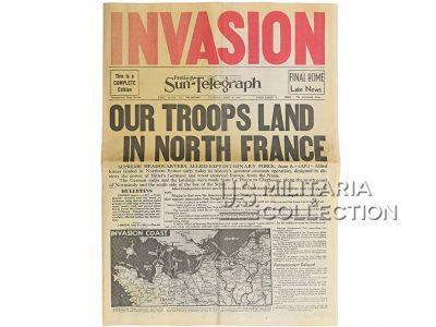 Journal du débarquement, daté du 6 juin 1944