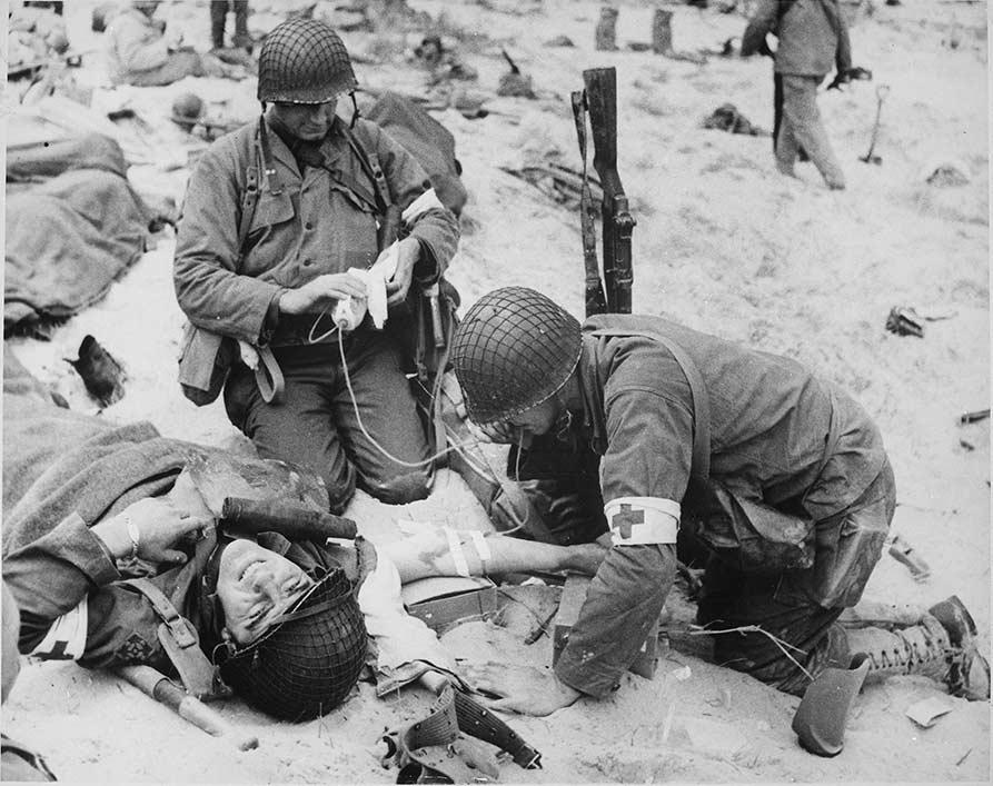 Utah Beach, 6 juin 1944, 4th Infantry Division Combat Medic