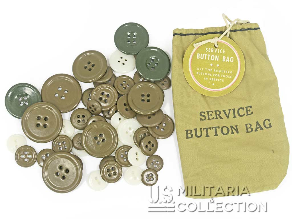 Sac boutons US Army, Service button bag