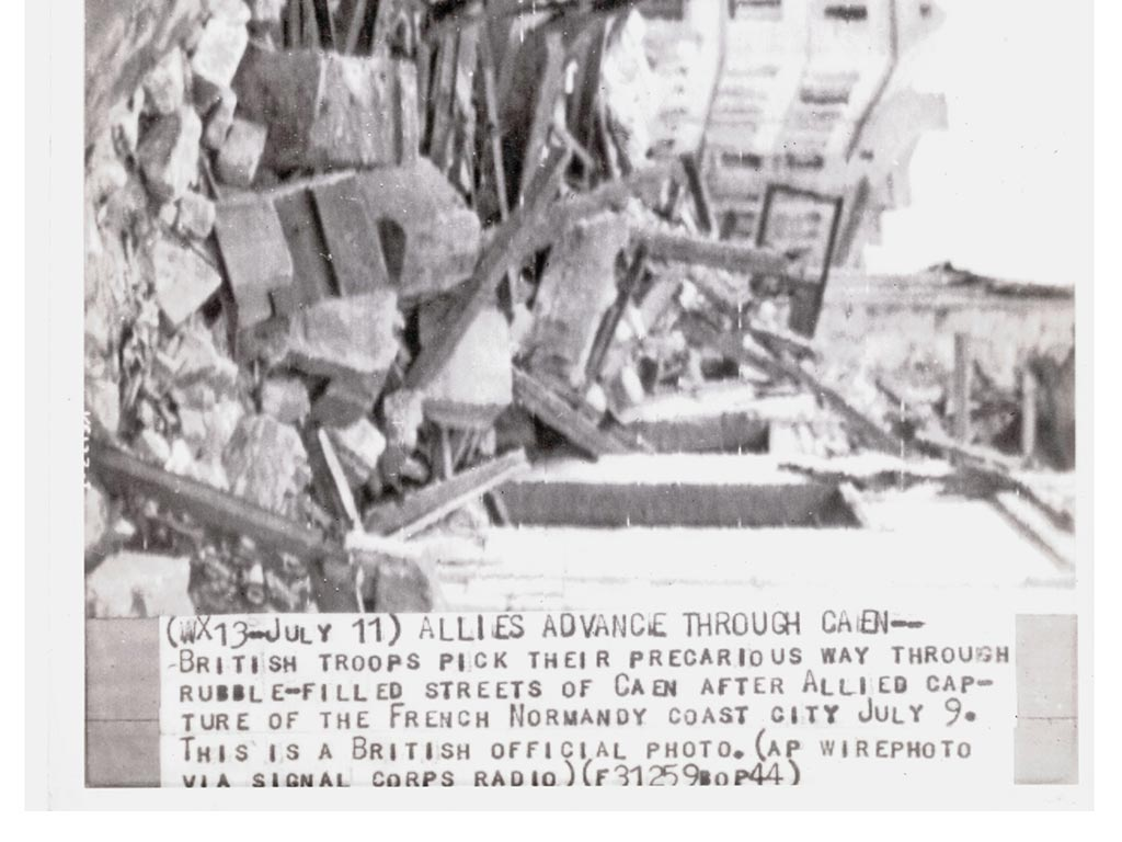 Bataille de Caen, troupes britanniques 9 juillet 1944