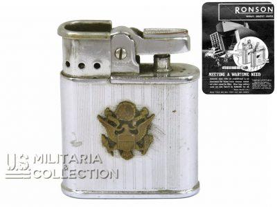 Briquet US Ronson Whirlwind, Personnalisé, Armée Américaine.