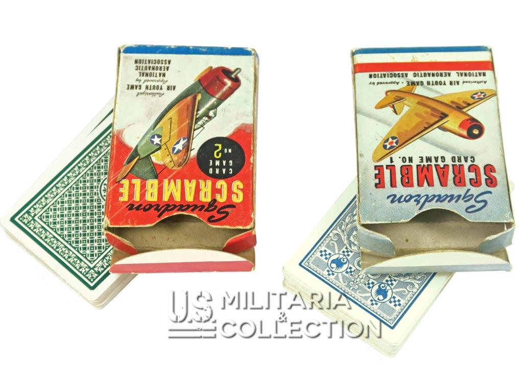 Jeux de cartes SQUADRON SCRAMBLE N°1 et N°2