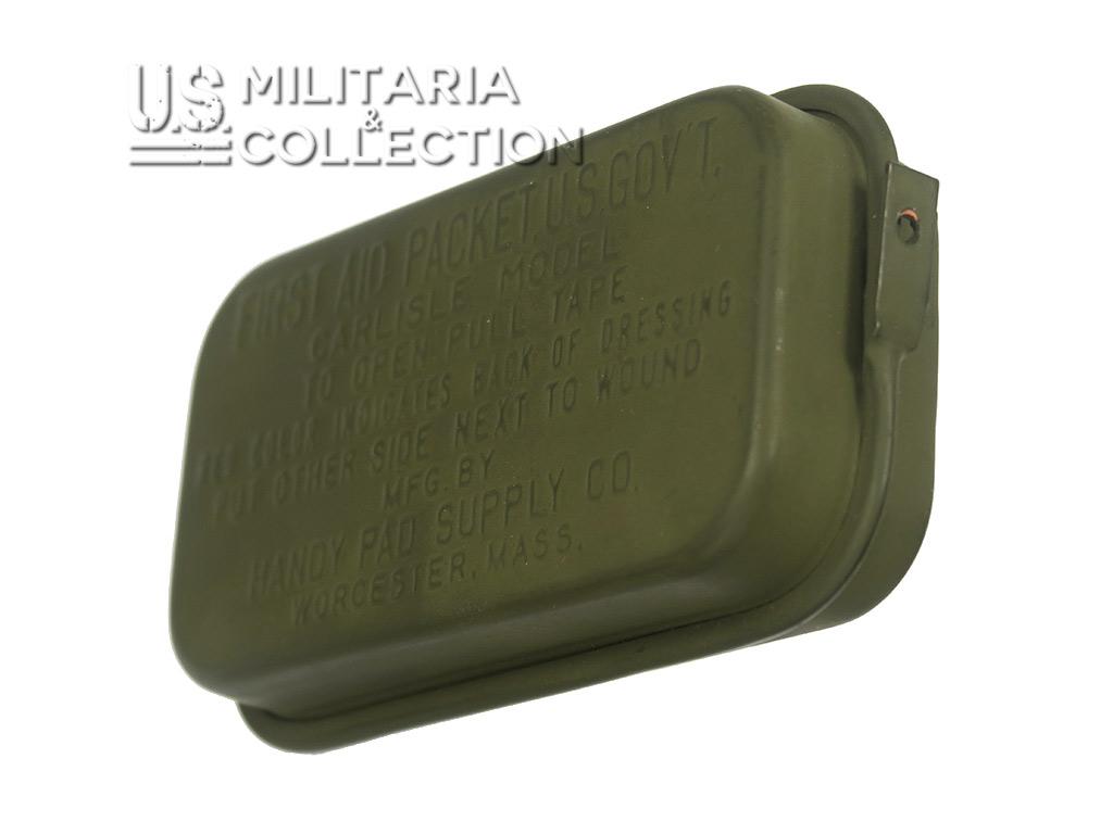 Pansement US boite métal vert, modèle 1942/1943