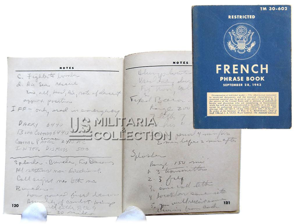 French phrase book 1943, avec notes d'un Pilote