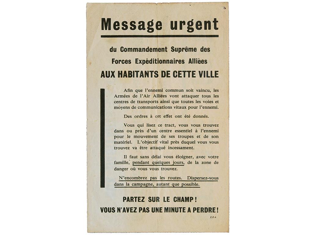 Tract du débarquement, 6 juin 1944