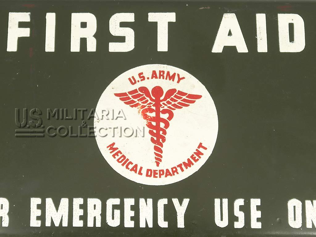 Boite First-Aid de jeep, 12 Unit. Modèle 1941