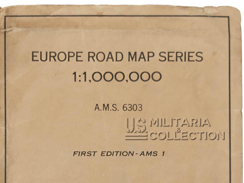 Carte routière US France, 1944