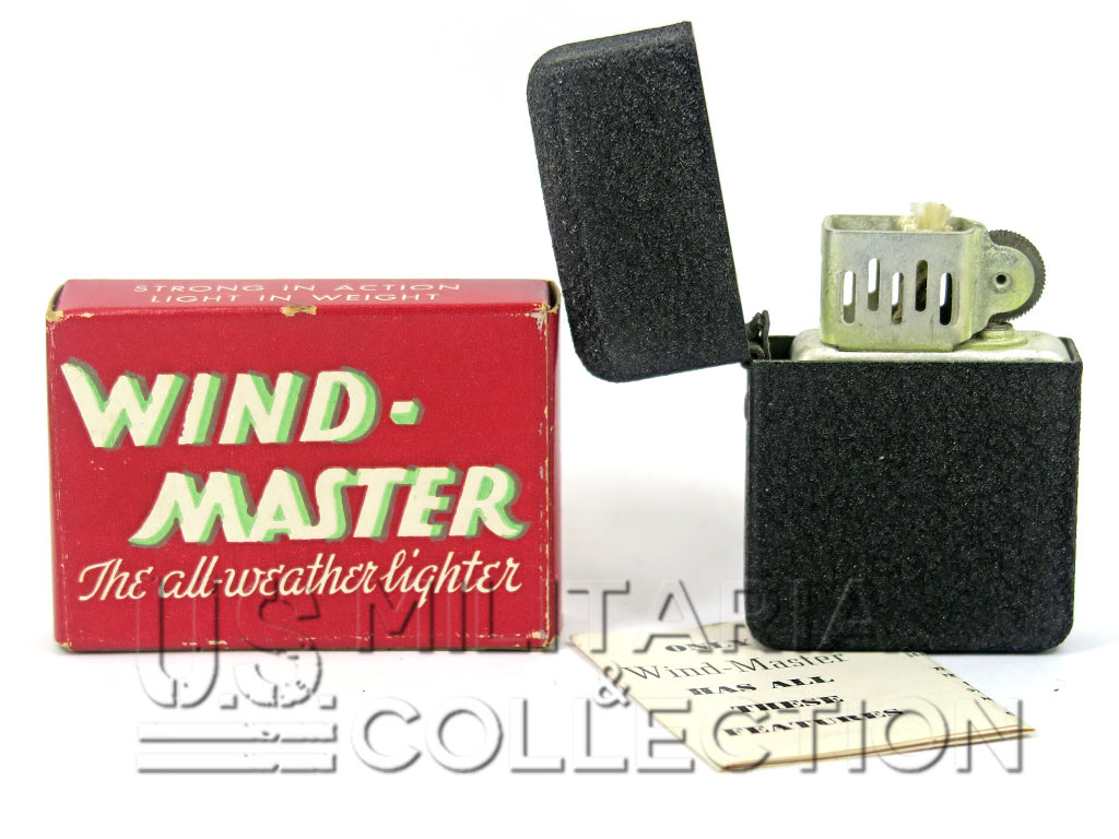 "Briquet US Army Wind-Master, ""Black Crackle"""