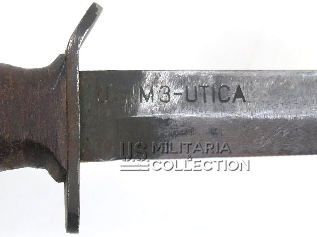 Couteau US M3 Utica, marquage Lame