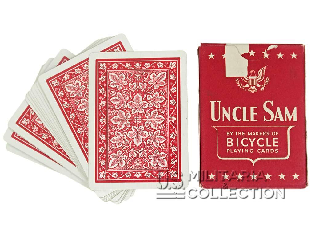 Jeu de Cartes US, Uncle Sam 1942 rouge