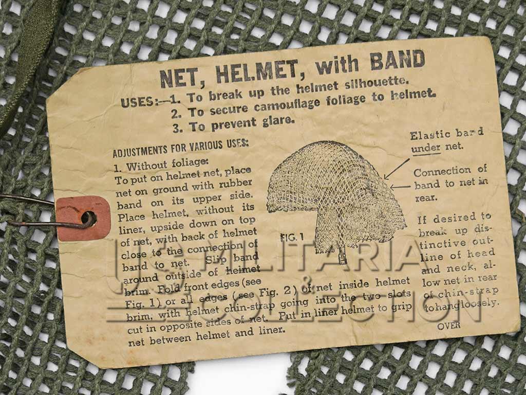 Net Helmet with Band (Filet de casque avec élastique) M1944