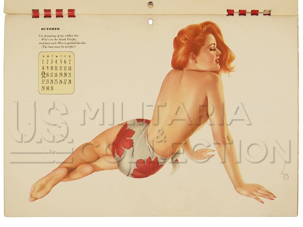 Calendrier 1944 Pin Up Varga, de G.I