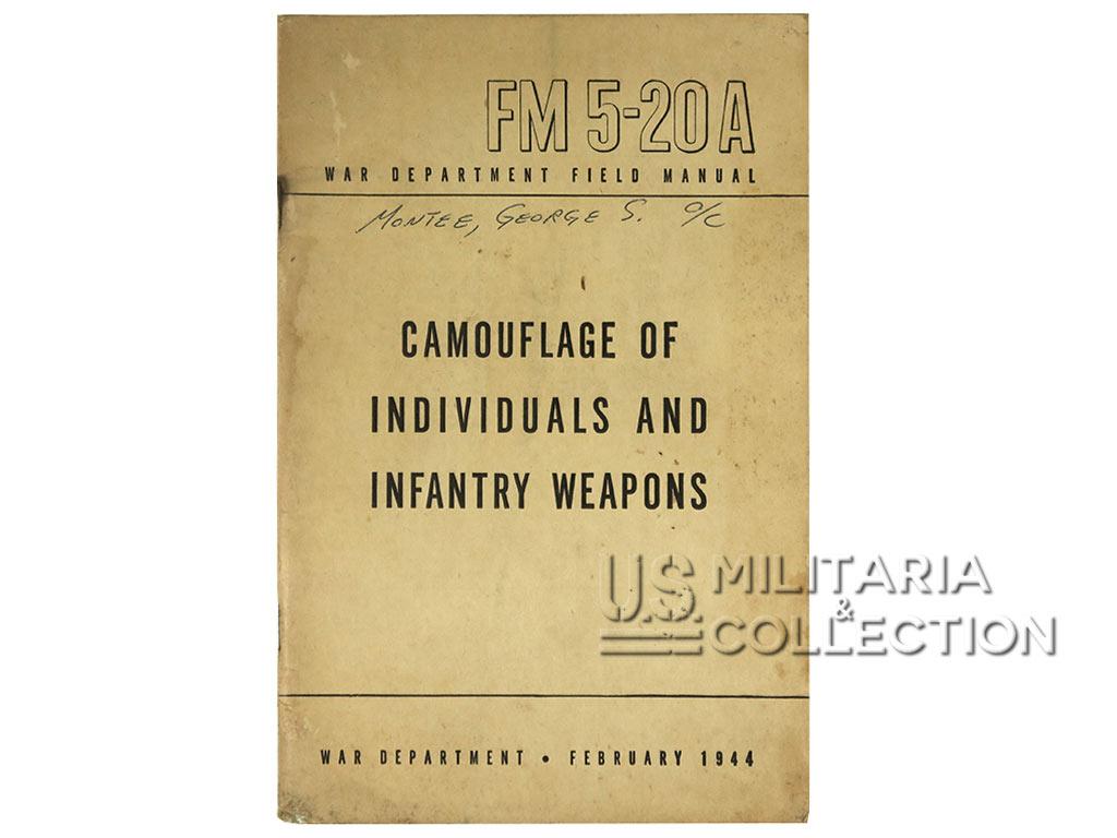 Camouflage individuel Manuel 1944, FM 5-20A