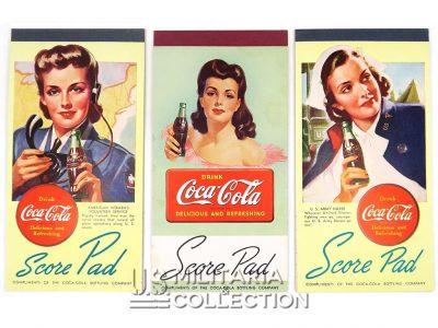 Carnets de score Coca-Cola, série complète