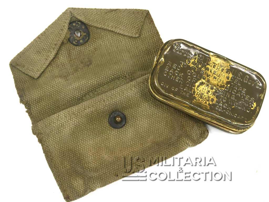 Pochette à Pansement US M-1924, boite à pansement First-Aid