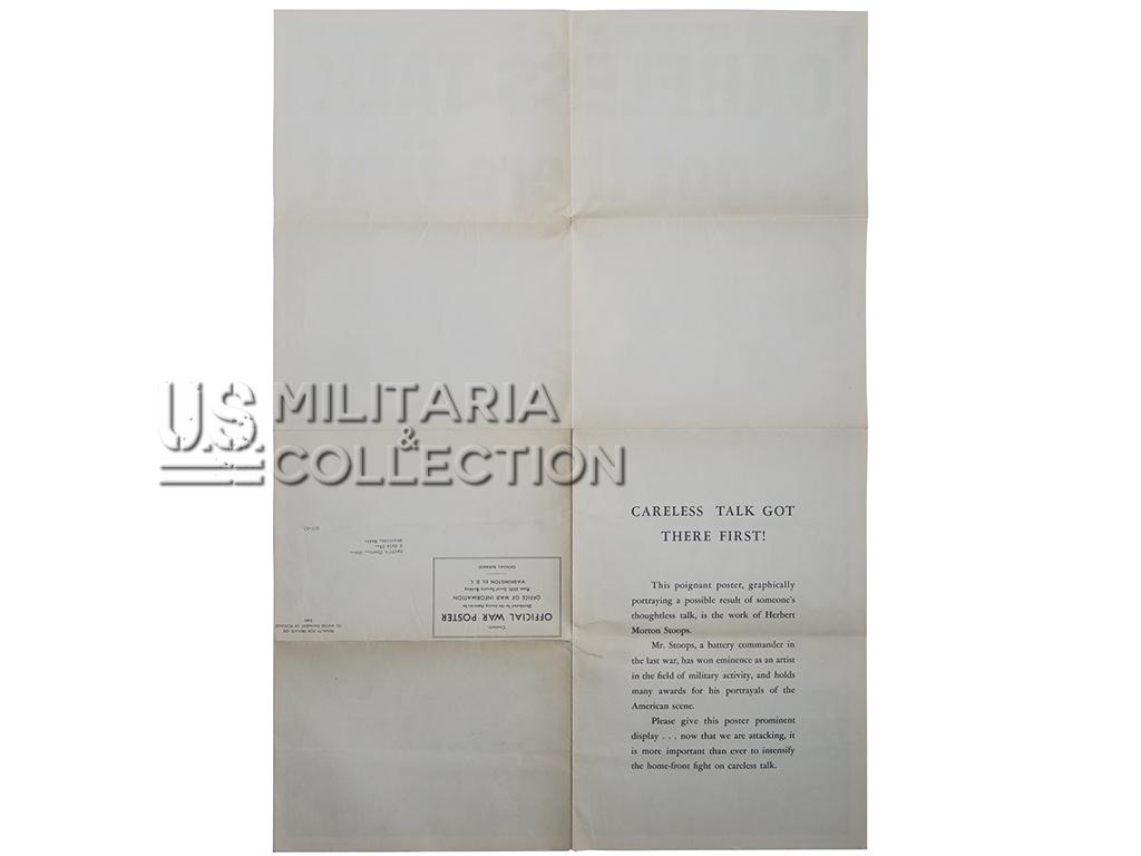 Affiche Parachutiste US Careless, 1944