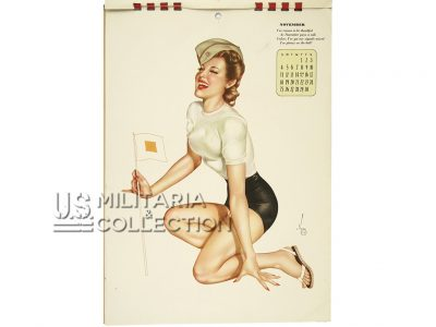 Calendrier 1945 Pin Up Varga, de G.I.