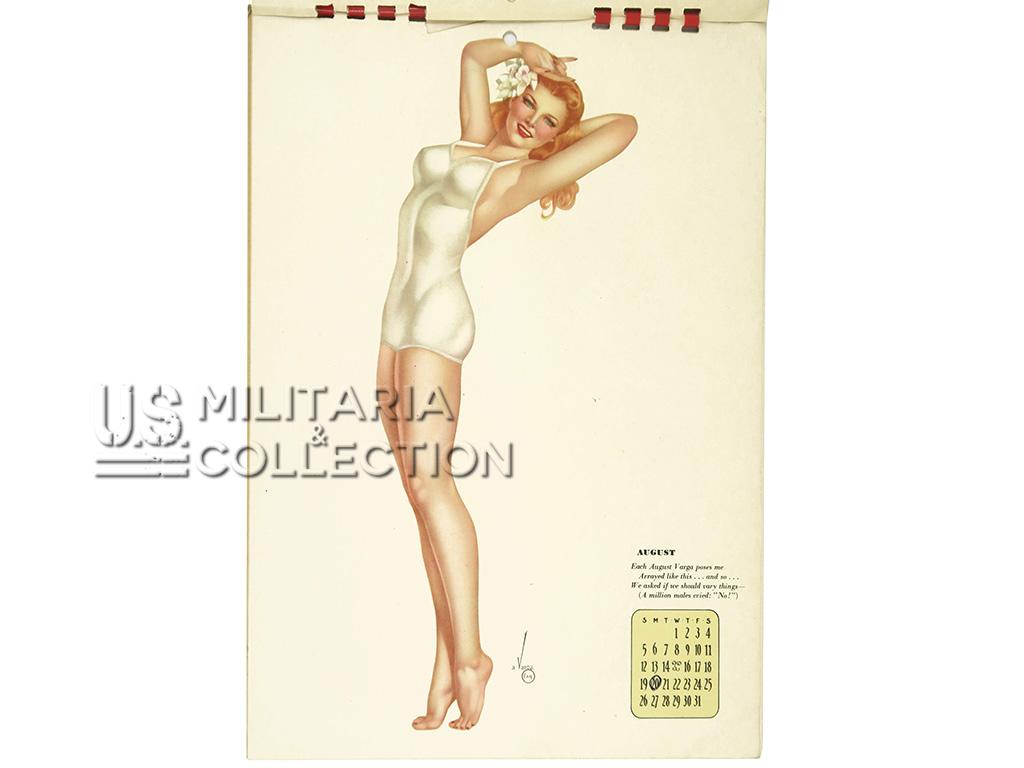 Calendrier 1945 Pin Up Varga, de G.I.