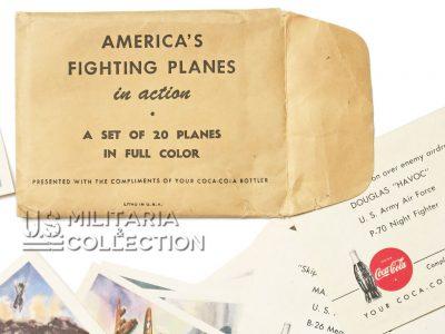 Cartes Coca Cola America's fighting Planes