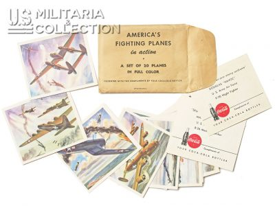 Cartes Coca Cola America's fighting Planes