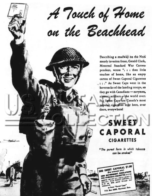 Cigarettes Troupes Canadiennes, Sweet Caporal