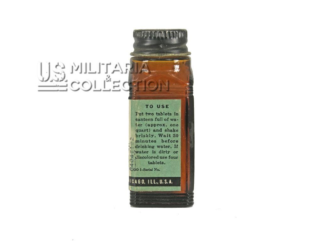 Flacon pastilles Halazone, Rations C, Kit médical