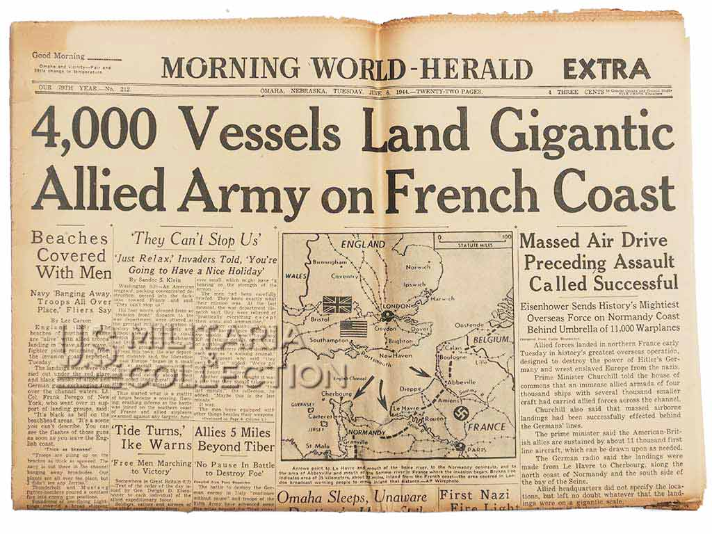Journal 6 juin 1944, Morning World-Herald Extra