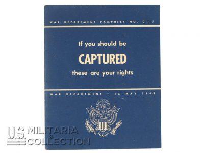 Livret If you should be CAPTURED