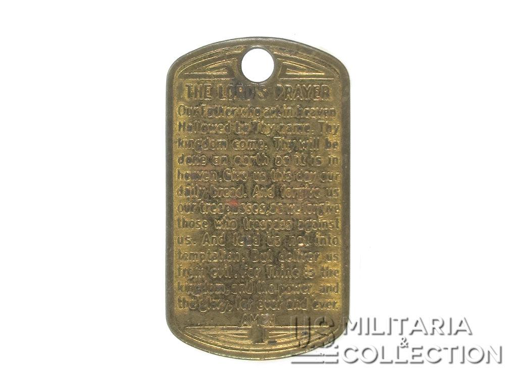 Médaillon Religieux US Army. Prière Protestante
