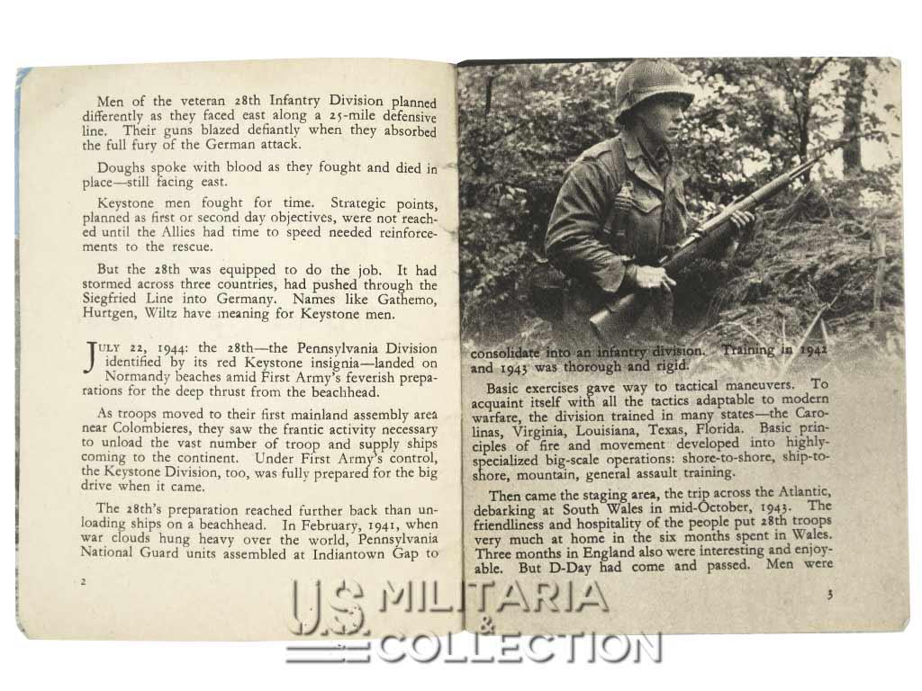 28e Division d'Infanterie US, ensemble nominatif