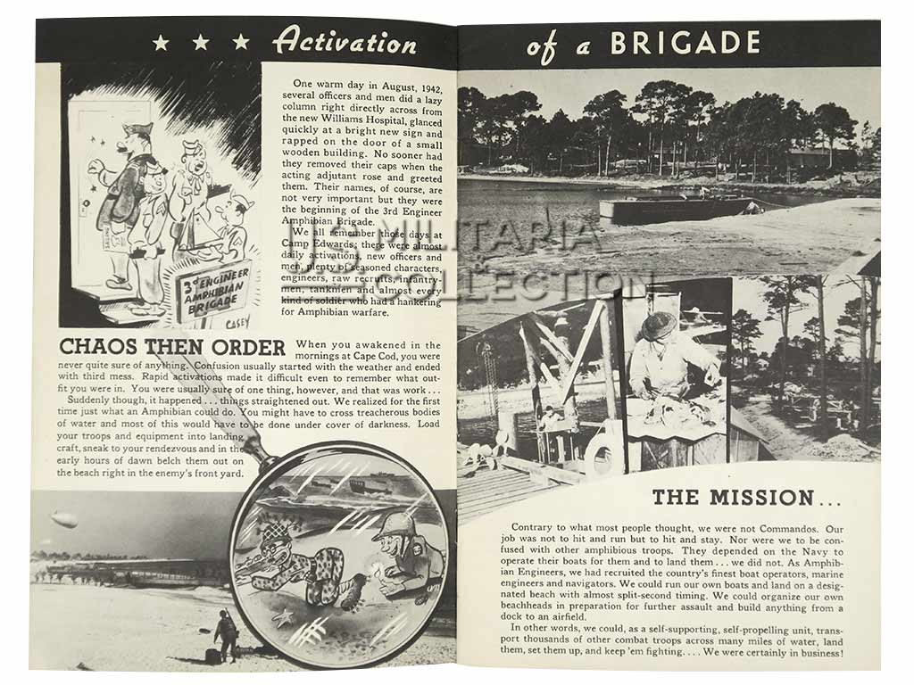3rd Engineer Special Brigade, livret daté 1943