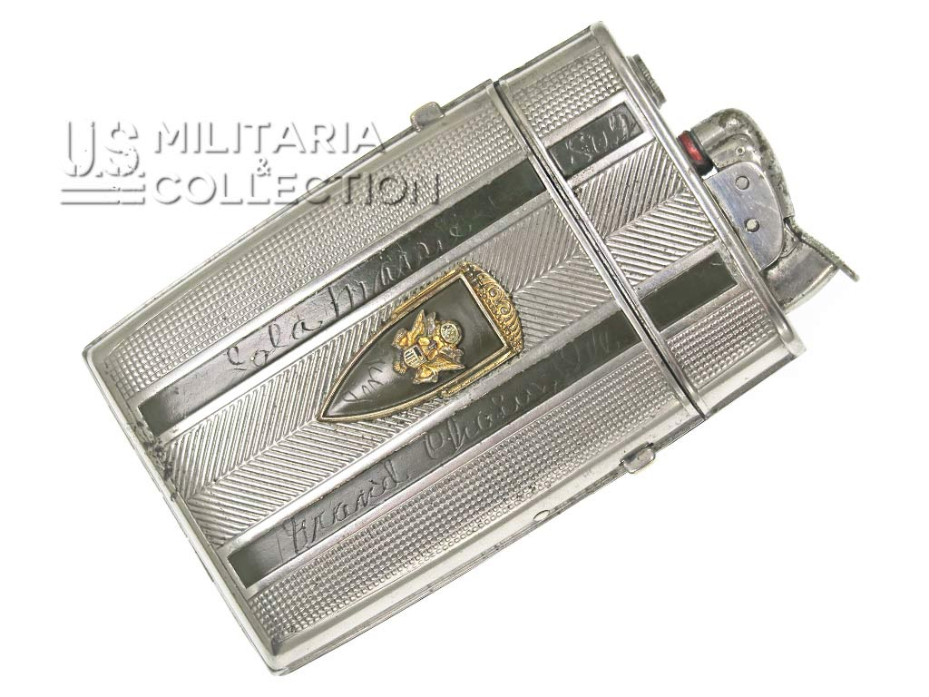 Étui à Cigarettes US ARMY, Briquet Nominatif