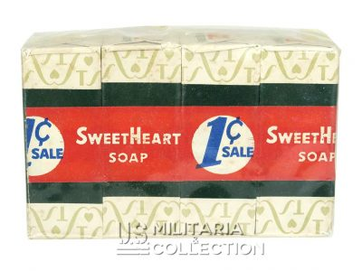 Pack 4 savons US, SWEET HEART WWII