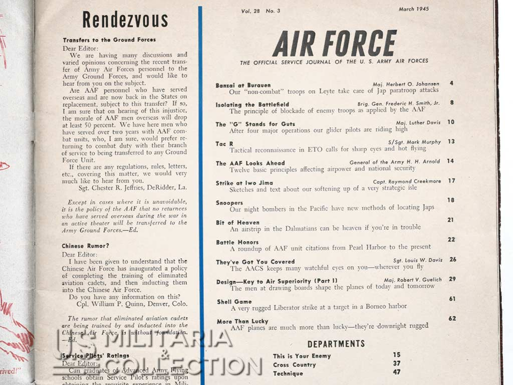 Air Force Magazine, Glider Pilot, mars 1945