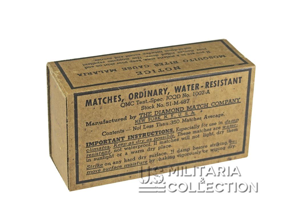 Boite d'allumettes de l'US Army, water-resistant
