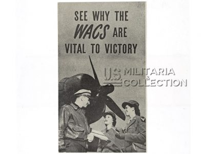 Brochure recrutement WAC, Women's Army Corps, 1943.