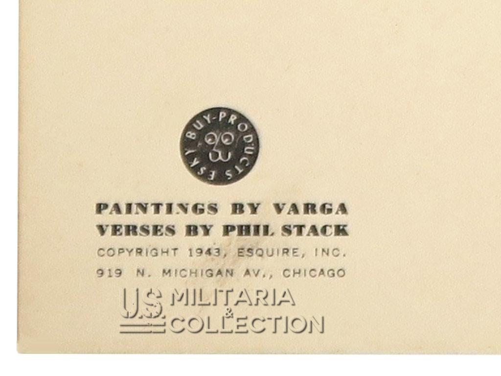 Calendrier Varga Pin Up 1944