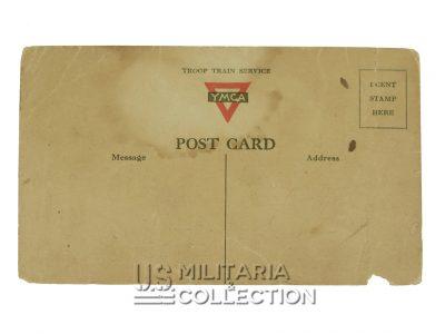 Carte postale 1re division d'infanterie US, WWI