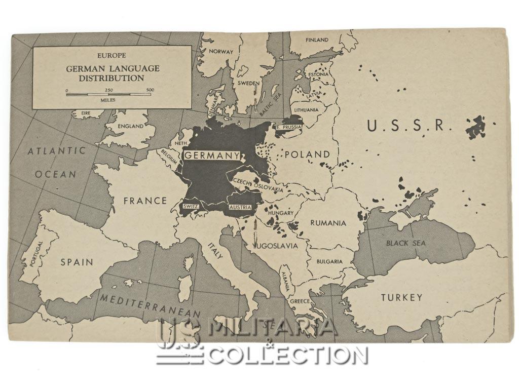 Livret German Language Guide, 1943