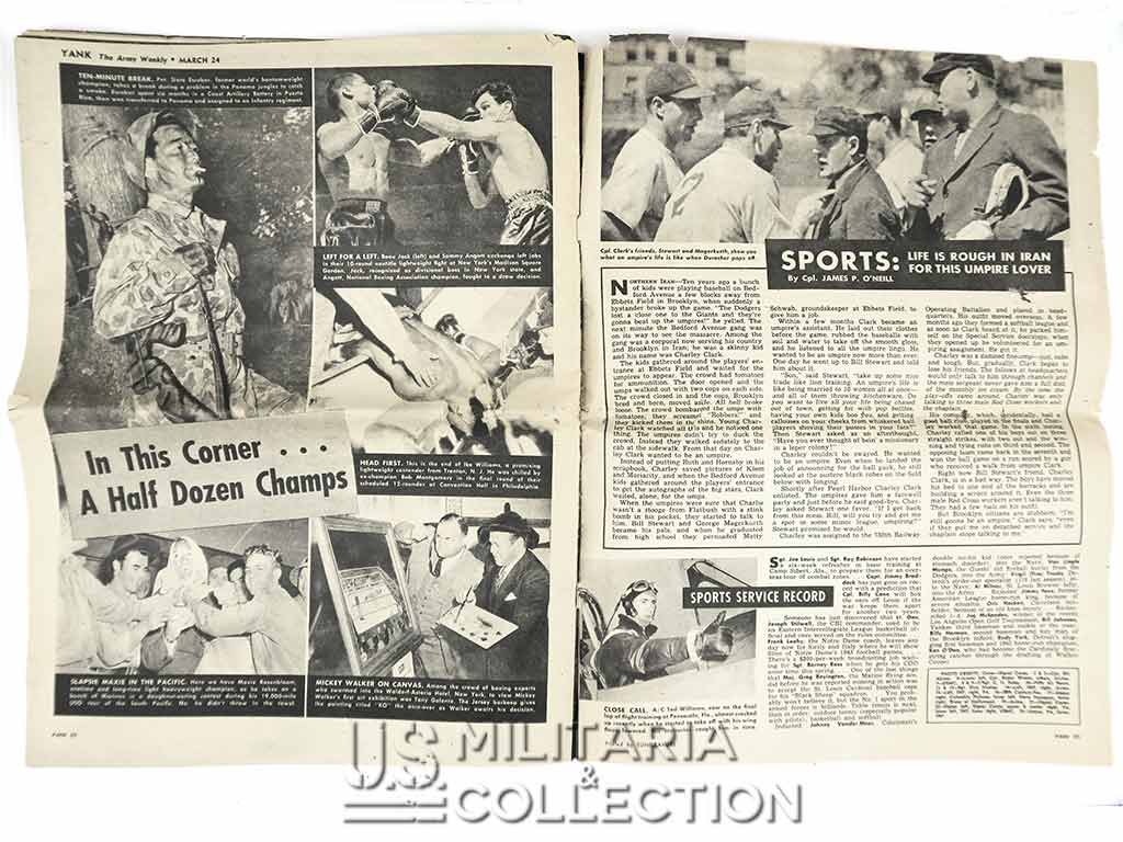 "Yank Magazine 18 février, 1944. ""Paratrooper in New Guinea""."