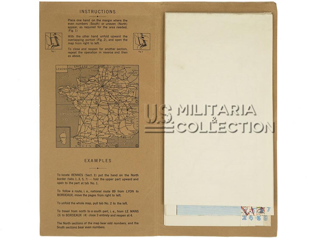 Carte US ARMY 1944 France