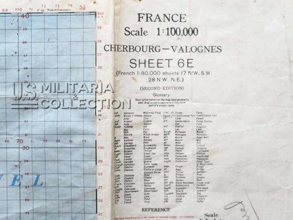 Cartes Normandie St Lô Cherbourg